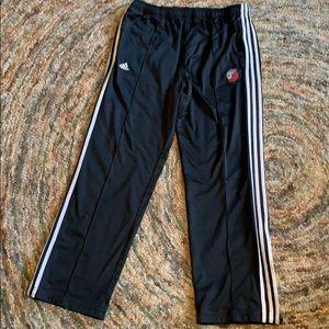 Portland Trailblazers Adidas track pants